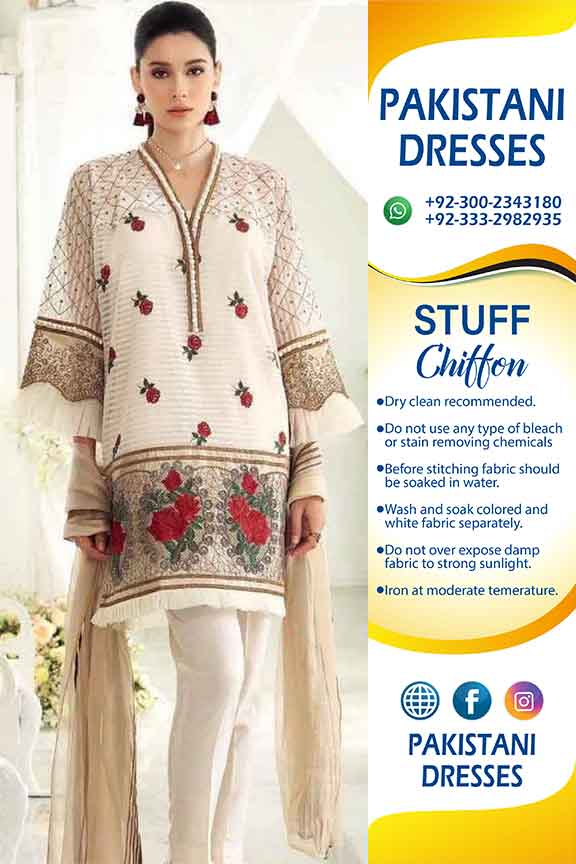 GUL AHMED CHIFFON CLOTHES 2019