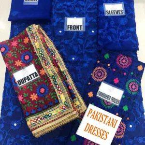 Phulkari Chiffon Dresses Collection 2019
