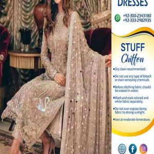 Pakistani chiffon dresses collection 2019