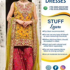 Pakistani Mehndi Lawn Clothes