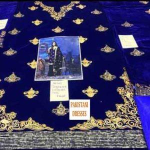 Pakistani velvet collection 2019
