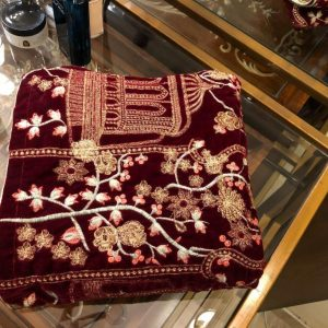 Velvet Shawls Embroidered Digital Online