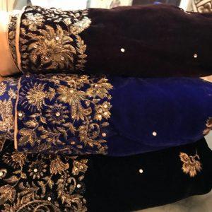 Velvet Shawls Embroidered Online