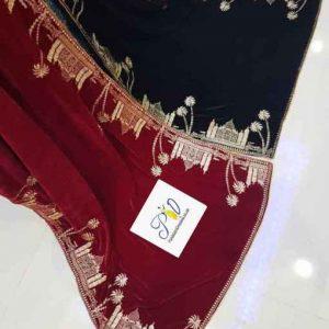 Taj Mahal Latest Velvet Shawls 2020